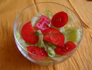 tomato on lettuce